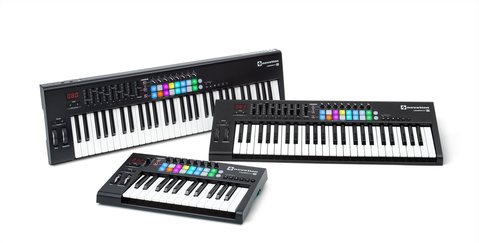 Moderni MIDI-koskettimisto, kuten Novation Launchkey Mk2, on monipuolinen työkalu. Kuva: Novation