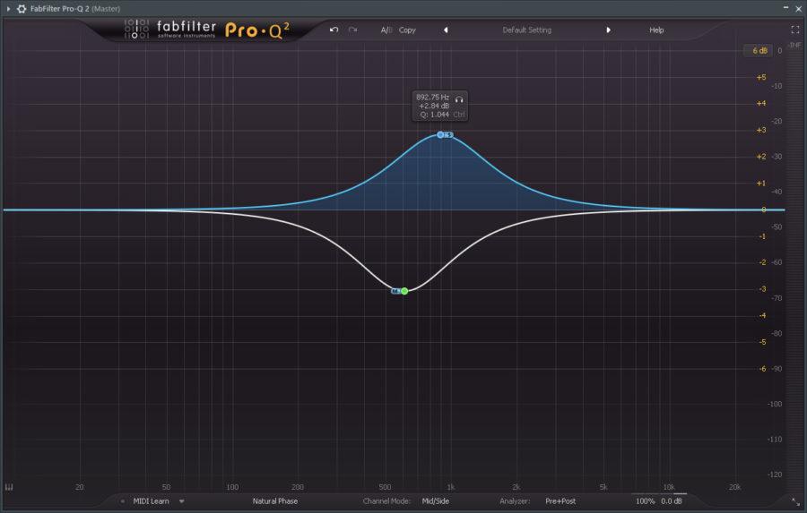 Stereokuvan hallinta - Fabfilter Pro Q2