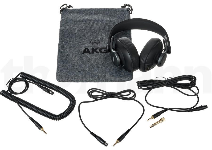 AKG K371 paketin sisältö